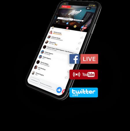 streaming para eventos social live
