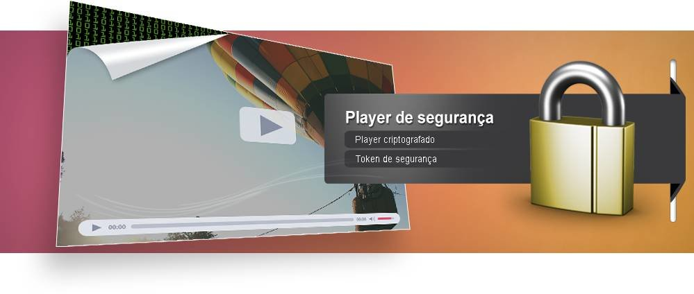 player de streaming personalizado de seguranca