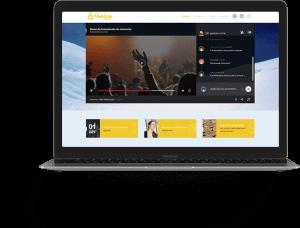 Banner Sites Administraveis Framesites streaming para igrejas e cultos