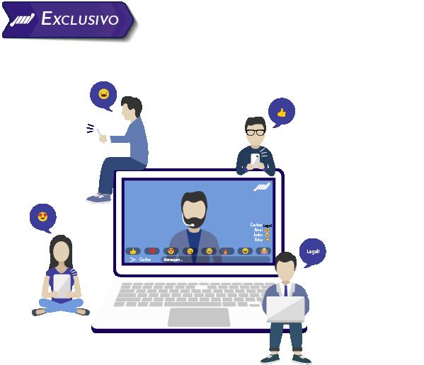 imagem chat integrado streaming para web tv