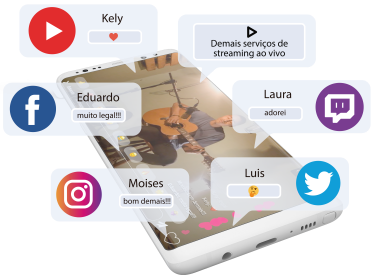 imagem secao live social streaming de audio