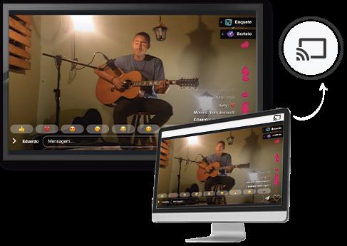 secao jmv player imagem streaming para igrejas