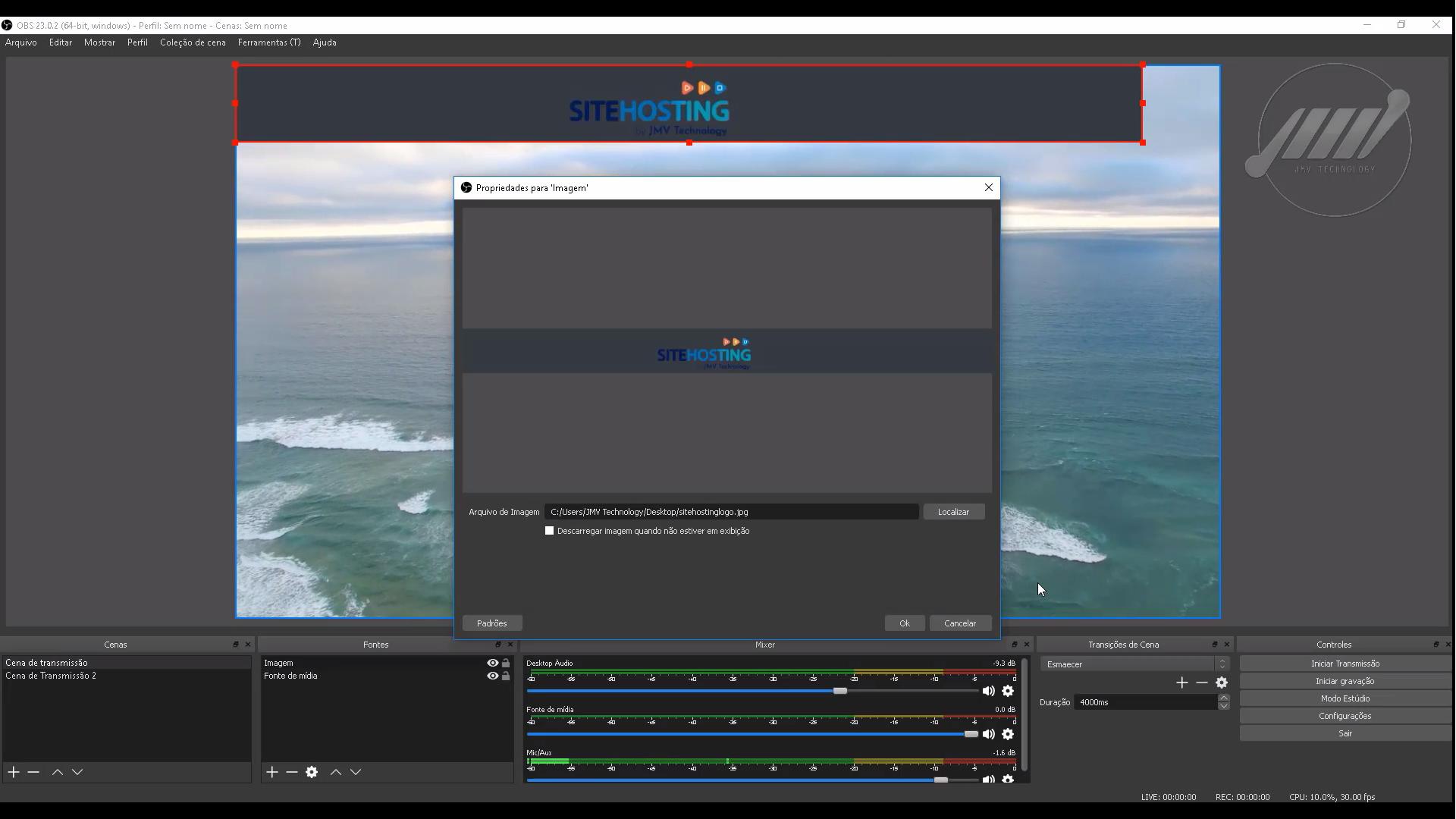 Como configurar cenas e fontes no OBS Studio 02