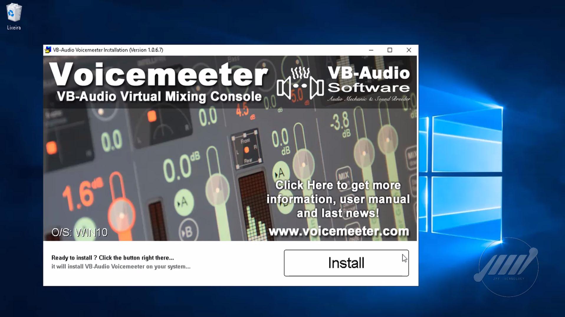 mesa de som virtual voicemeeter