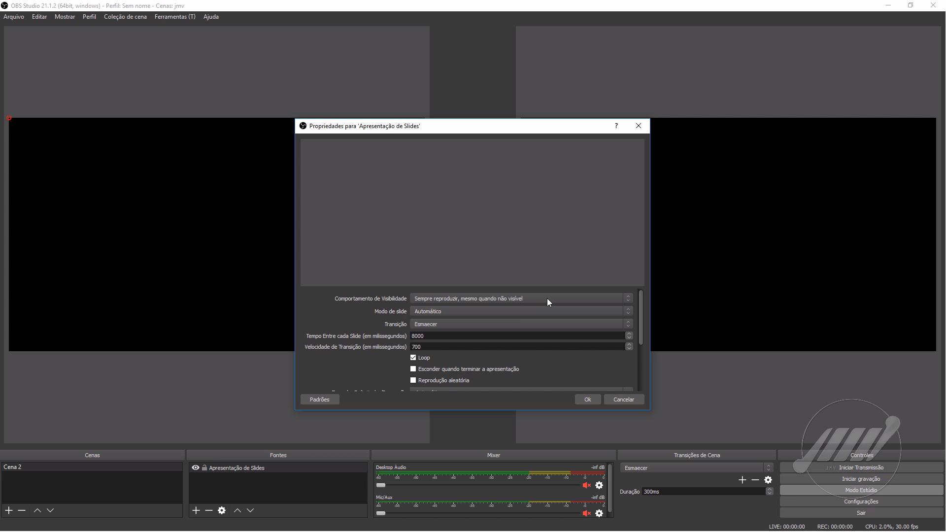 como transmitir slides ao vivo usando o Obs Studio 01