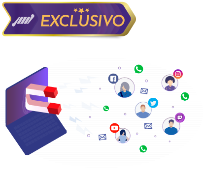 tv com ima puxando pessoas e logo de redes sociais streaming de camera ip player com captura de whatsapp e email