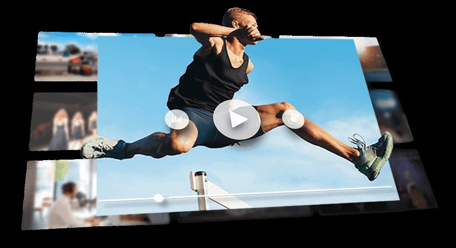 player de alta performance desempenho carregamento rapido delay reduzido streaming de video sitehosting