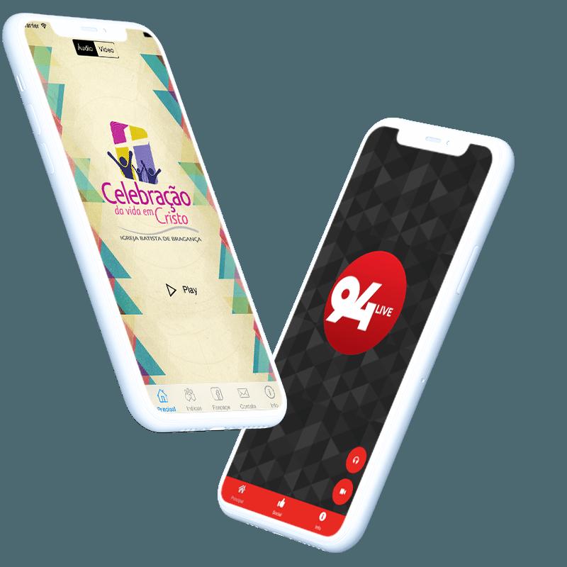 Aplicativo para radio web radio web tv android ios smart tv sitehosting cliente 94live celbracao