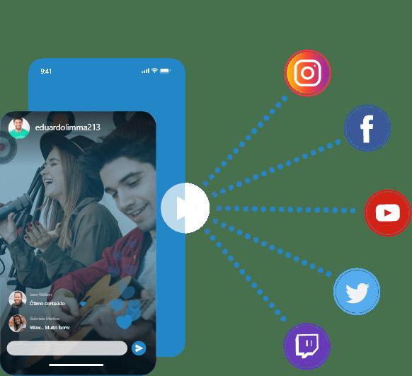 celular-realizando-live-com-logo-de-redes-sociais-instagram-facebook-youtube-twitter-twitch-tv-linkedin-streaming-para-web-radios-sitehosting